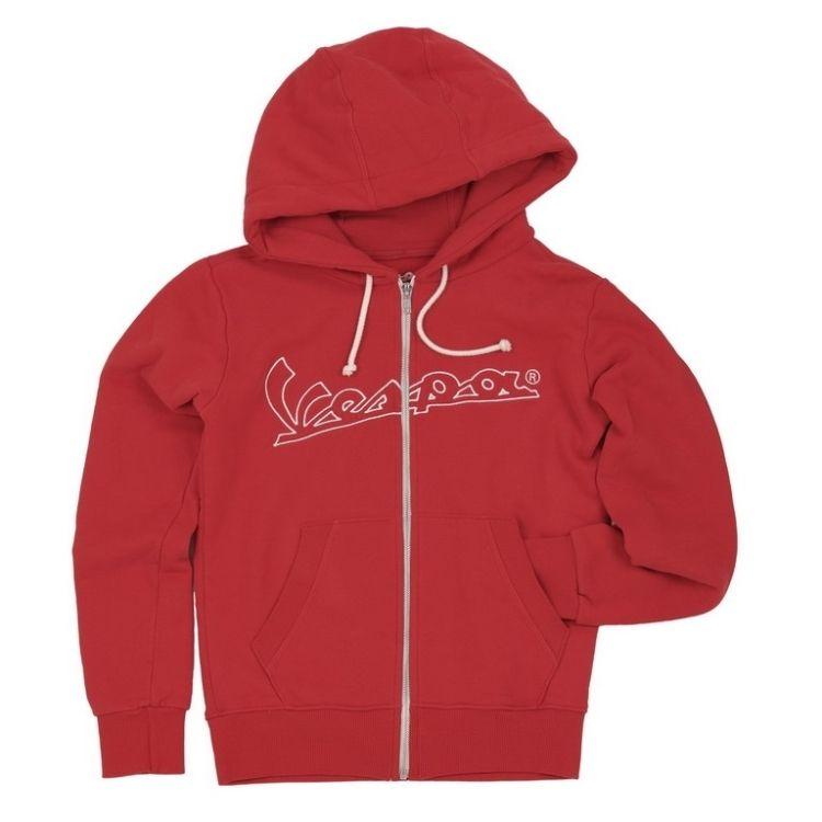 77a304fcad4 Dámská mikina s kapucí VESPA CLASSIC LOGO červená