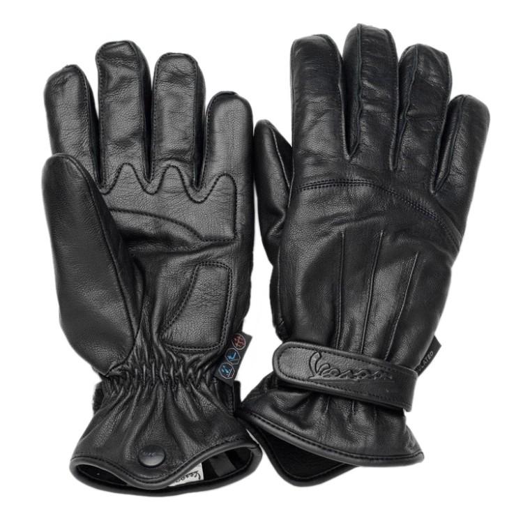 Kožené zimní rukavice VESPA CROSS OVER černé  51e9a437a5