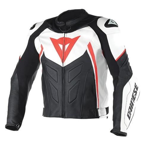 23781cef0d2 Pánská moto bunda Dainese AVRO D1 vel.56 bílá černá fluo červená ...