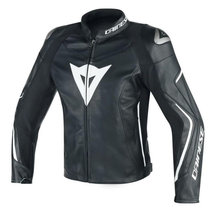 Dainese pánská kožená sportovní moto bunda ASSEN vel.56 černá bílá ... 96046a9ff7f