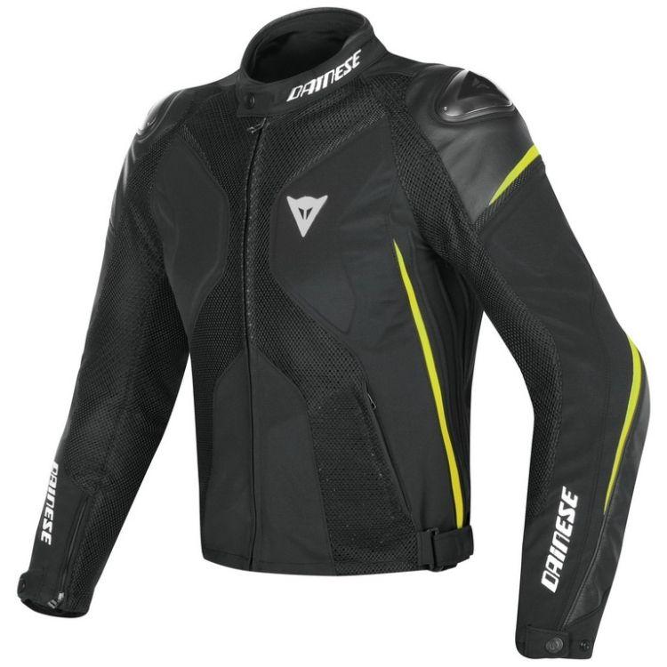 Pánská sport moto bunda Dainese SUPER RIDER D-DRY černá fluo-žlutá ... efc63c1fef2
