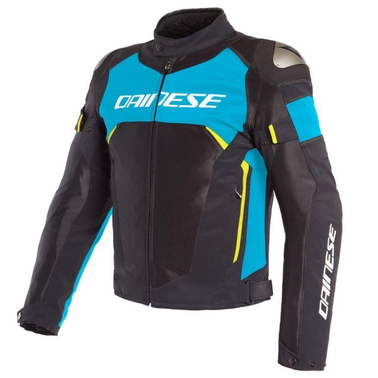Pánská sport moto bunda Dainese DINAMICA AIR D-DRY černá modrá fluo žlutá 7d3b12fbda5