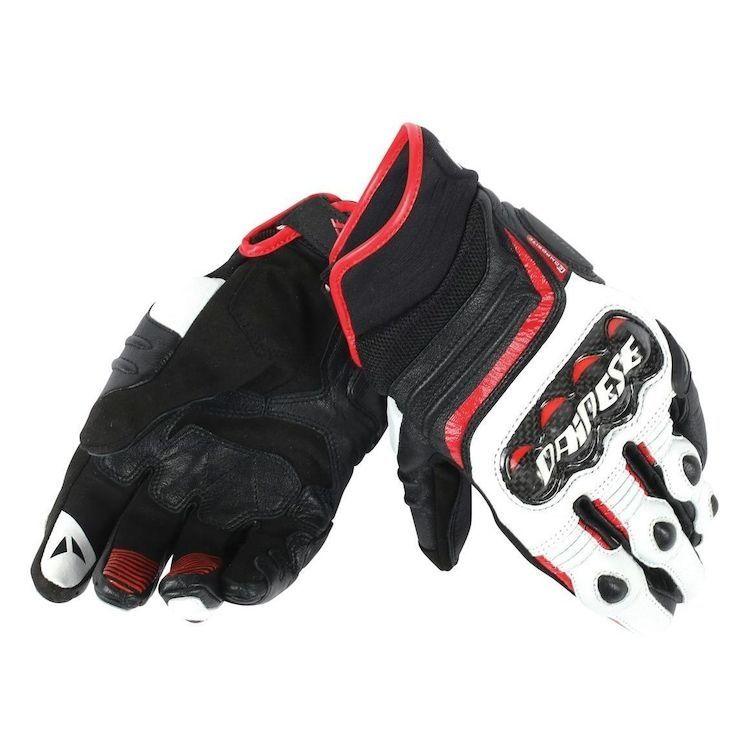 8bd245b7624 Pánské sport moto rukavice Dainese CARBON D1 SHORT černá bílá červená