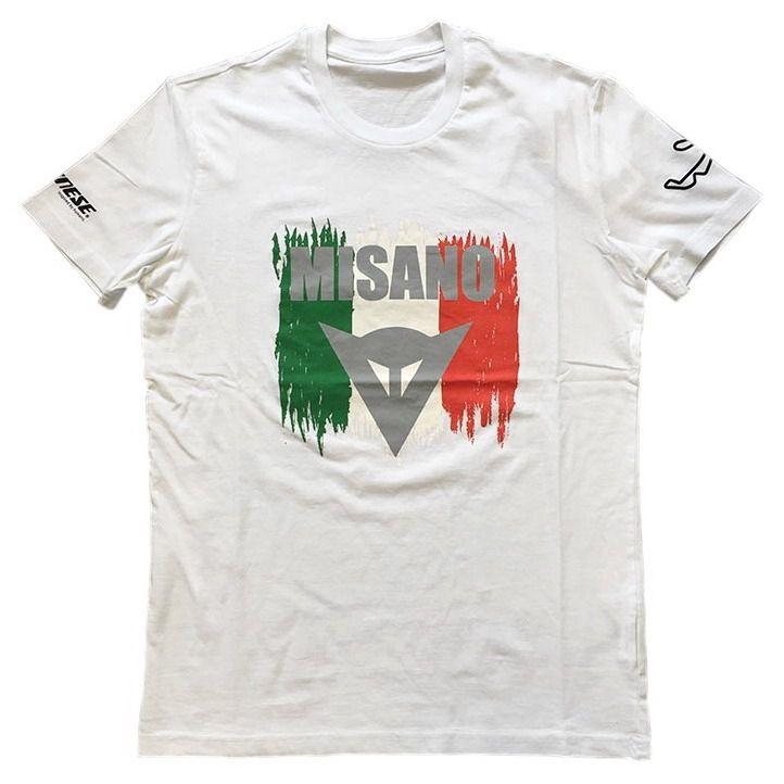 Pánské triko s krátkým rukávem Dainese MISANO D1 bílá  02de969eb2