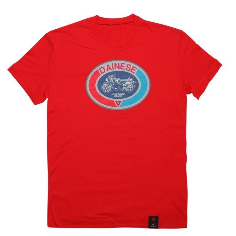 Pánské triko s krátkým rukávem Dainese MOTO 72 červená  52245247f7