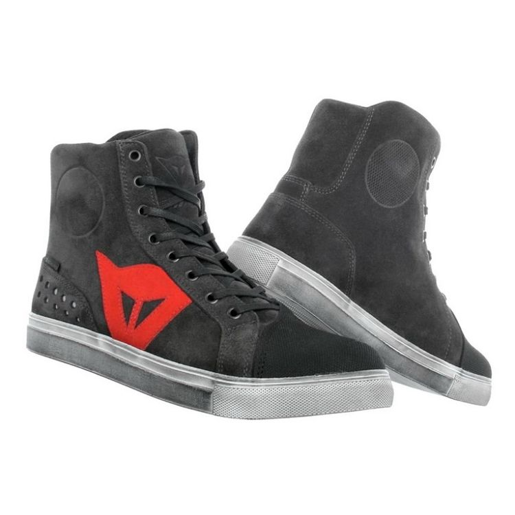 Dámské kotníkové skútr boty Dainese STREET BIKER LADY D-WP vel.38  karbon červené logo 3c3e79af0d