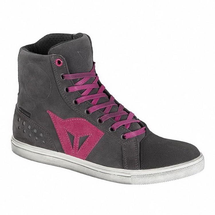 Dámské kotníkové skútr boty Dainese STREET BIKER LADY D-WP vel.41  antracitová růžové logo b4925f156d