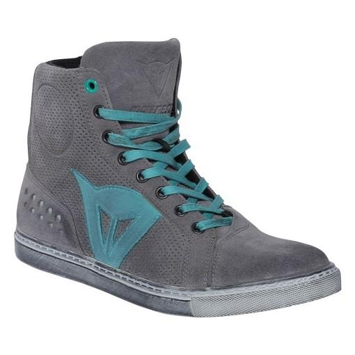 7cc3cb2437e Dámské kotníkové skútr boty Dainese STREET BIKER LADY AIR vel.36 šedá modré  logo