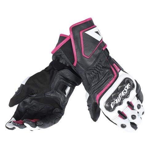 4ddcafc8428 Dámské sport moto rukavice Dainese CARBON D1 LONG LADY černá bílá růžová