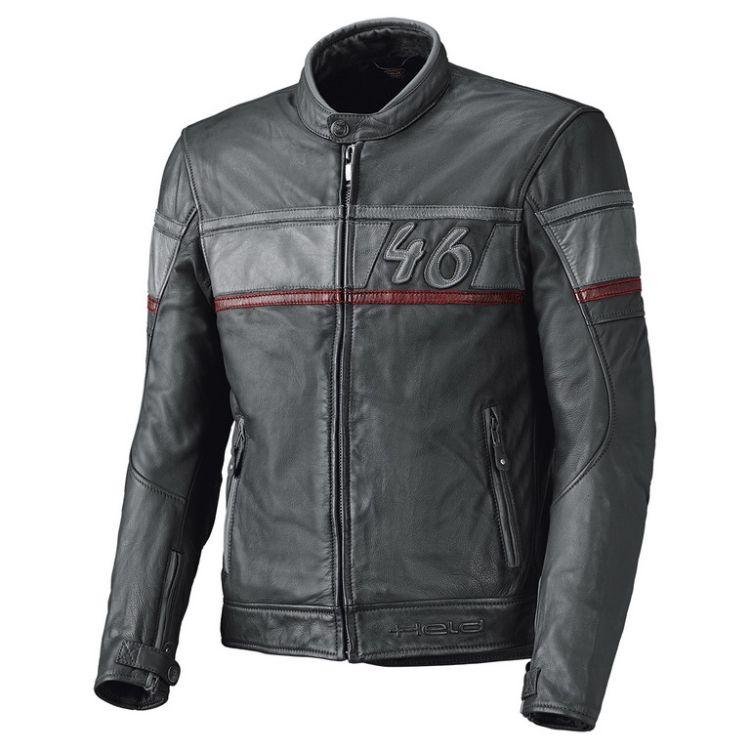 Pánská kožená moto bunda Held STONE antracit červená  01bcc986cc2