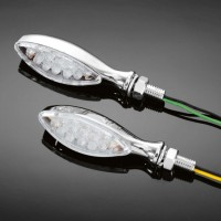Moto blinkry Highway Hawk ALIEN s LED, E-mark, chrom (2ks)